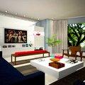 Sala de estar apartamento na Barra da Tijuca - imagem 3D