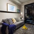 Sala de Estar em Tons de cinza Moderna e Contemporânea