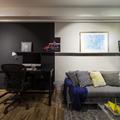 Sala de Estar Integrada com Área para Home-Office