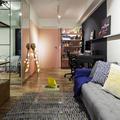 Sala de Estar Integrada com Home - Office Moderna e Contemporânea