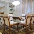 Sala de Jantar com Buffet e Cristaleira feito sob medida - Cond. Domus em São Bernardo do Campo