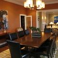 Sala de Jantar com cores diferenciadas