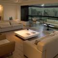 Sala integrada com sacada