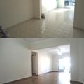 Sala - Piso sobre piso - Porcelanato - Antes e depois