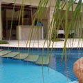 Vista da linha d'agua da piscina