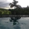 vista da piscina renovada
