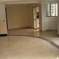 Vista do piso em marmore - sala de estar e jantar