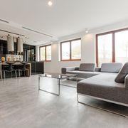 sala com piso vinílico