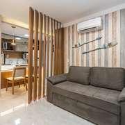 Hall de entrada e sala de estar
