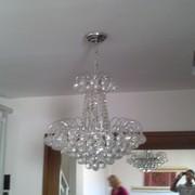 Instalação de lustre em sala de star