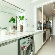 Lavanderia e cozinha integrada