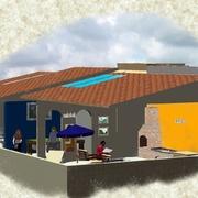 Projeto de area de lazer em cobertura de edificio