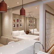 Sala com cozinha integrada