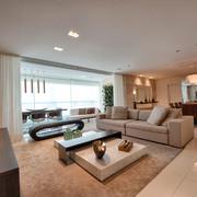 Sala integrada e decoração