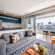 sala moderna sem cortinas