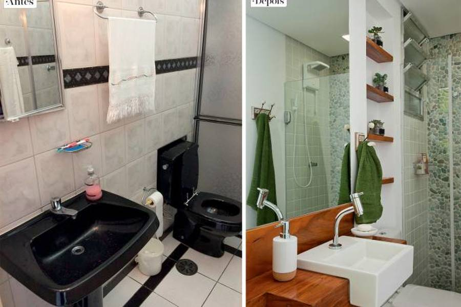 Antes e depois banheiro