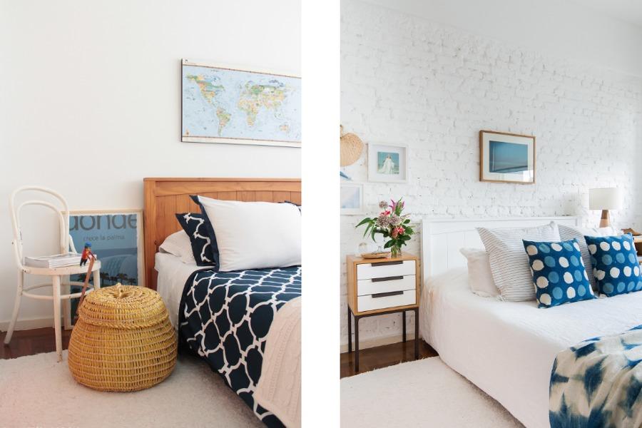 Antes e depois do quarto