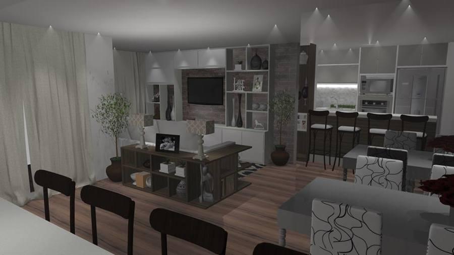 Apartamento com sala ampla em Paulinia