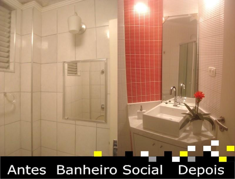 Banheiro Social - Antes e depois