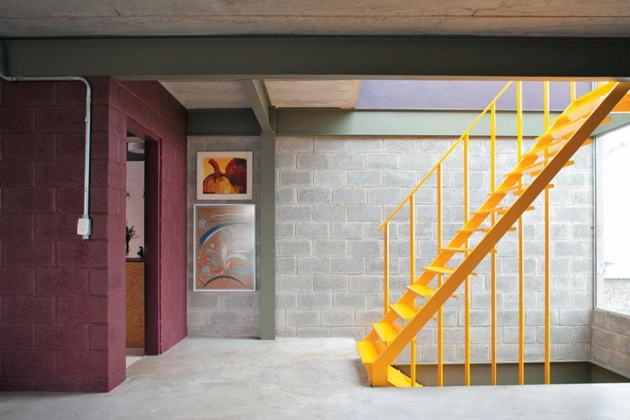 blocos de concreto aparente