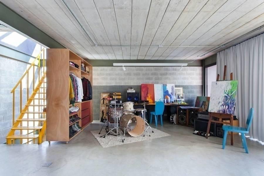 área de trabalho e closet