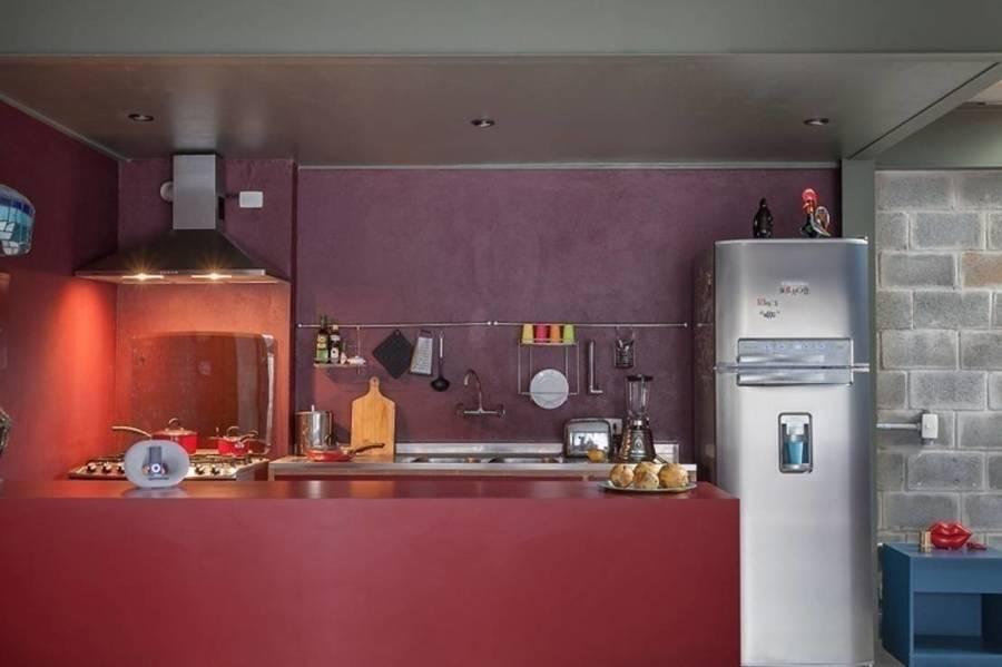 cozinha com tinta epóxi