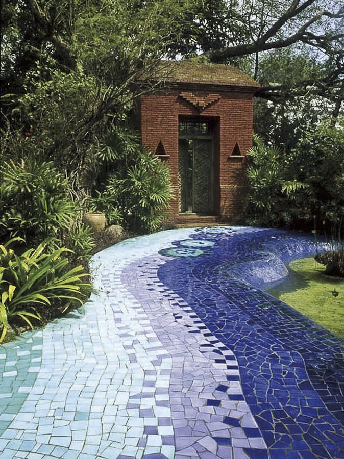 caminho de mosaico