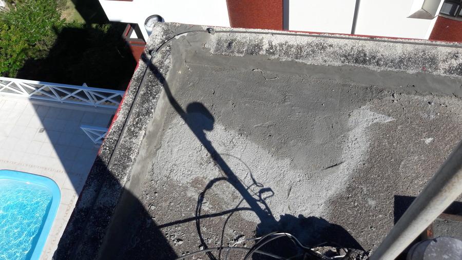 Correção do caimento da água
