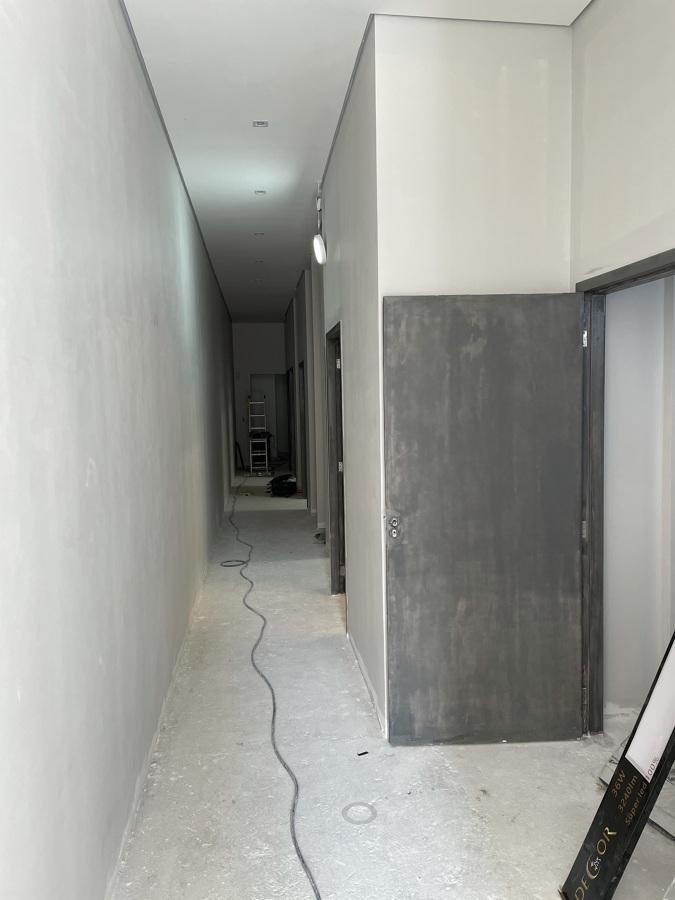 Corredor emassamento de forro e paredes
