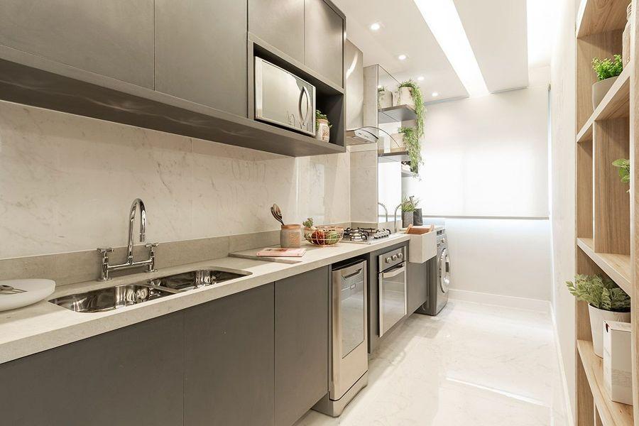 cozinha com bancada de granito