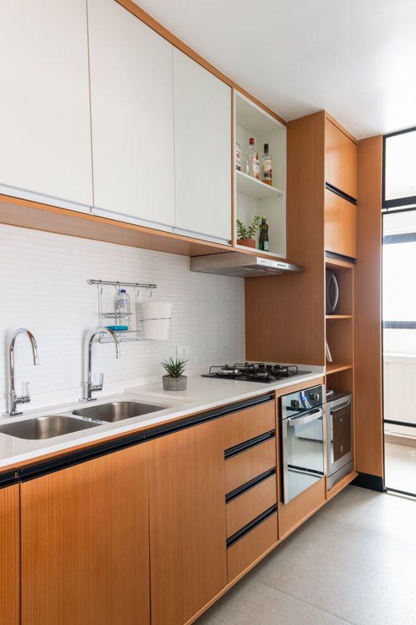 cozinha com cuba dupla