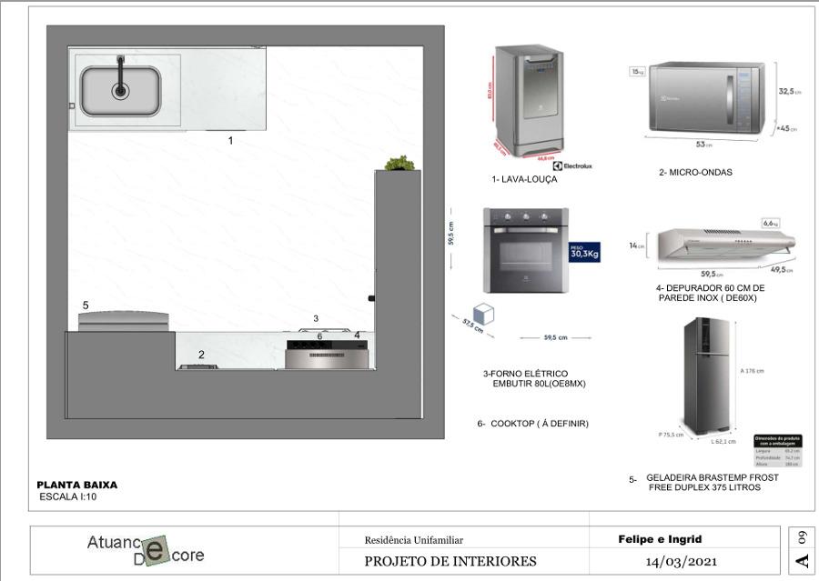 Cozinha - decorada e funcional