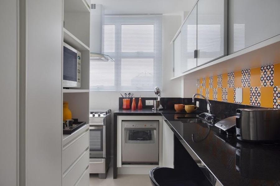 cozinha estreita moderna