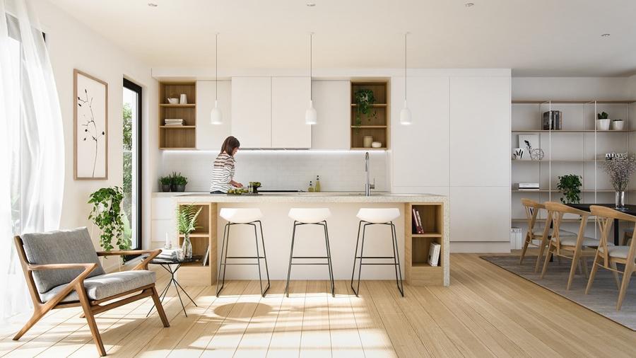 cozinha integrada - cheiro na cozinha