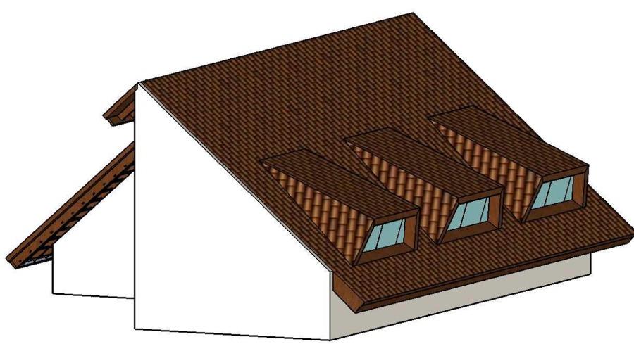 Detalhe lateral do telhado