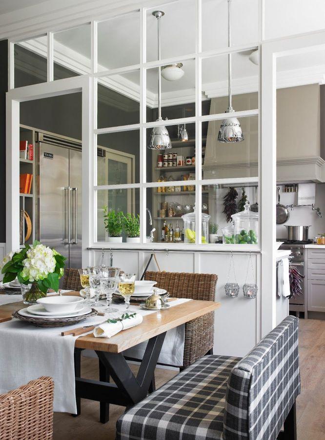 Divisória entre sala e cozinha