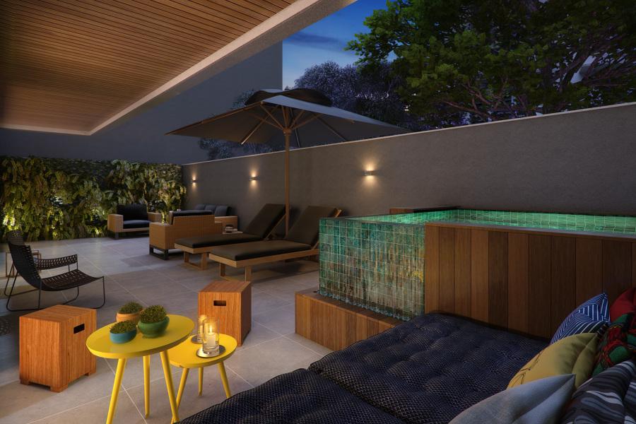 EDIFÍCIO CARAVELLE    Terraço Apartamento Garden