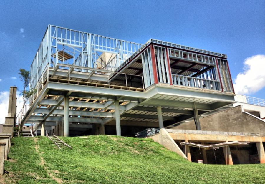 estrutura casa em steel frame