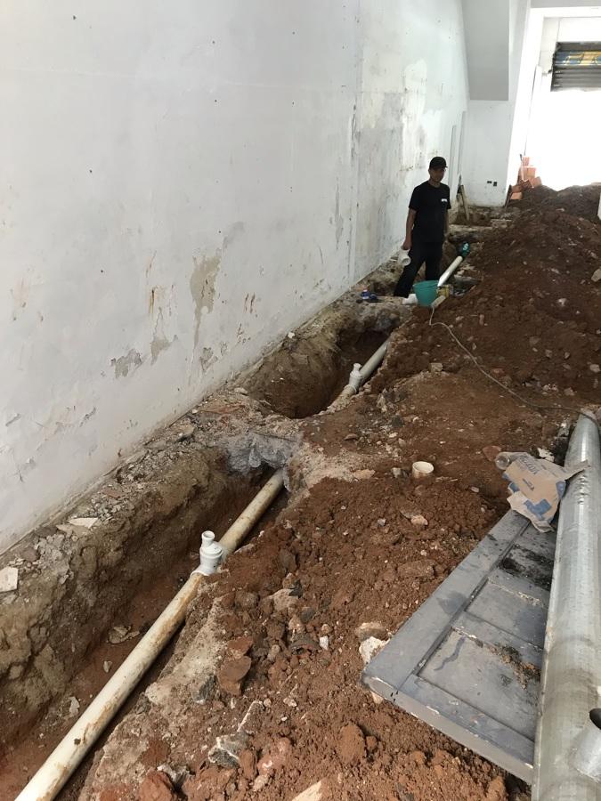 Execução infraestrutura hidráulica