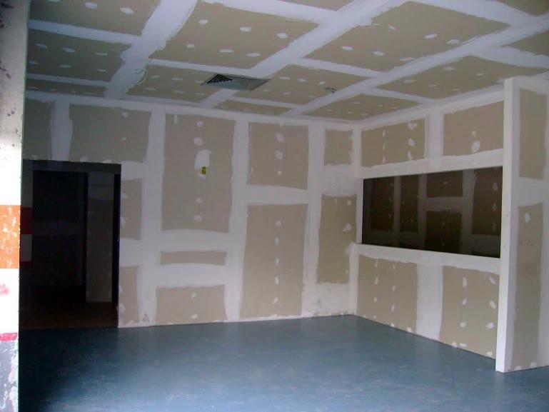 Forro e parede em drywall