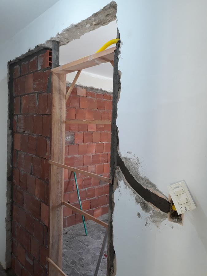 Gararito da nova porta - Novas instalaçoes elétrica