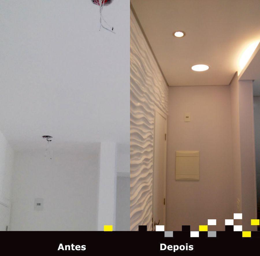 Hall de Entrada - Gesso - Antes e Depois