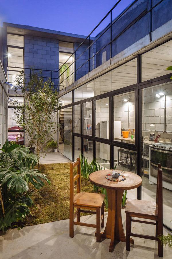 casa com blocos de concreto