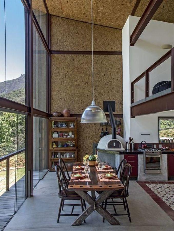interno de casa em steel frame