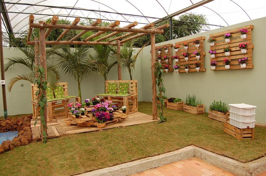 jardim com paletes