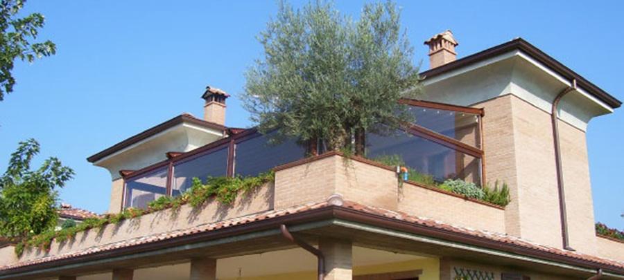 lona cristal no terraço