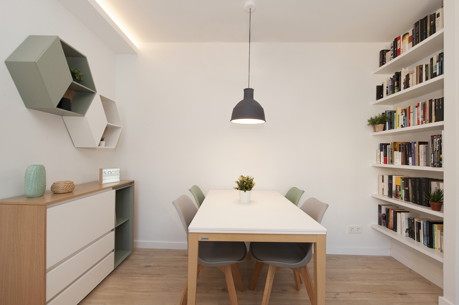 Mesa de jantar com estilo escandinavo