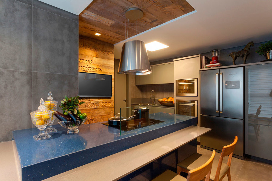 mistura de pedras na cozinha