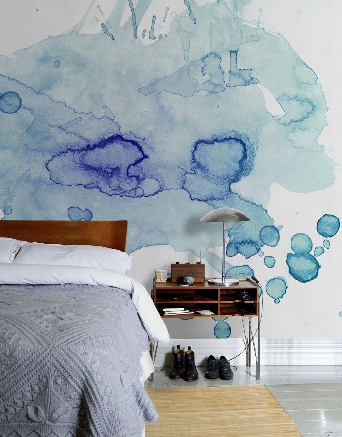 Pintura em aquarela para parede