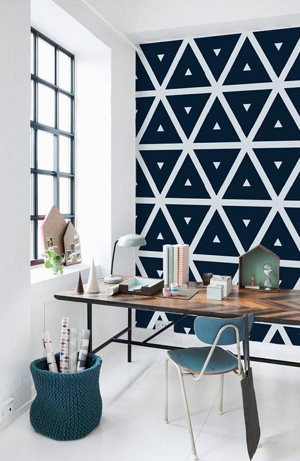 Pintura geométrica para parede